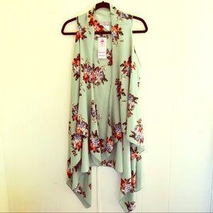 Jackets & Blazers - Floral Print Flyaway Vest 💐